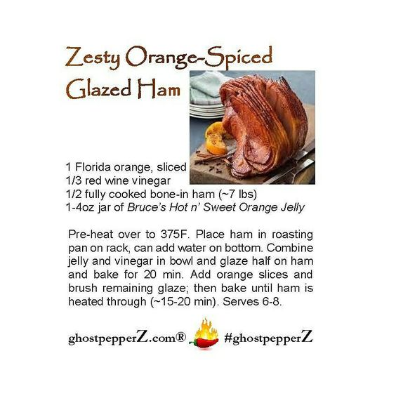 orange spiced glazed  ham recipe
