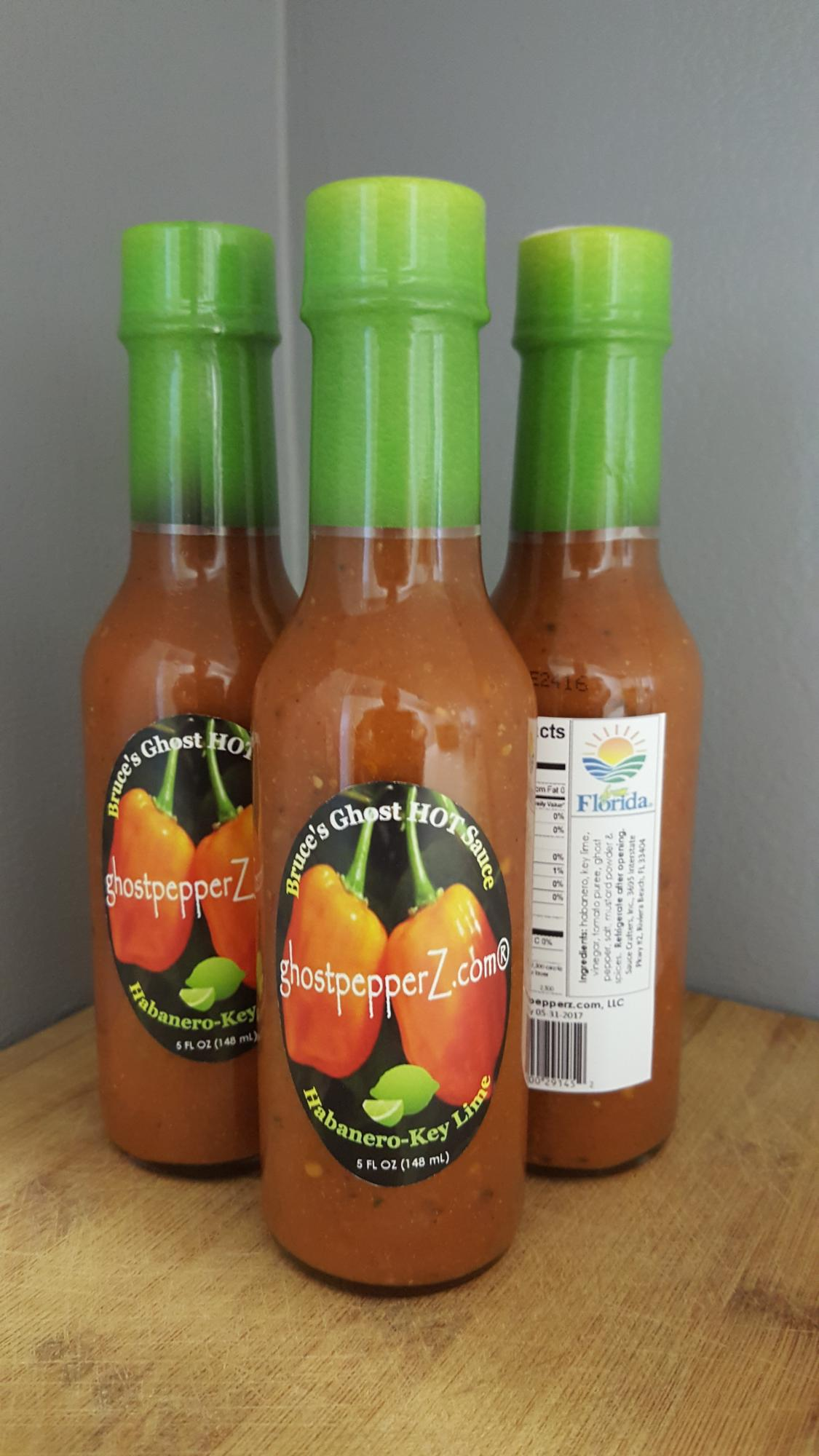 Bruce's Key Lime Ghost Habanero Hot Sauce