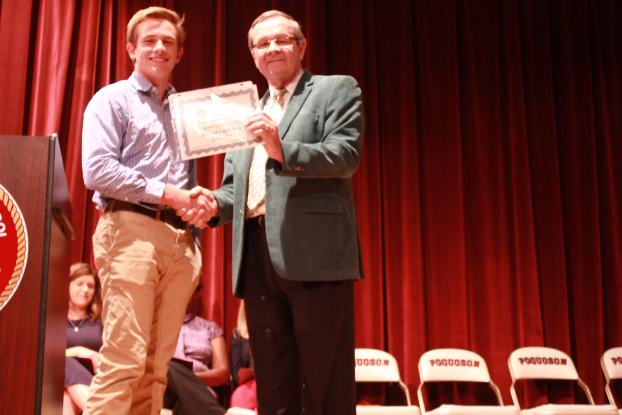 Noah Dunn--Kiwanis Club of Poquoson Scholarship