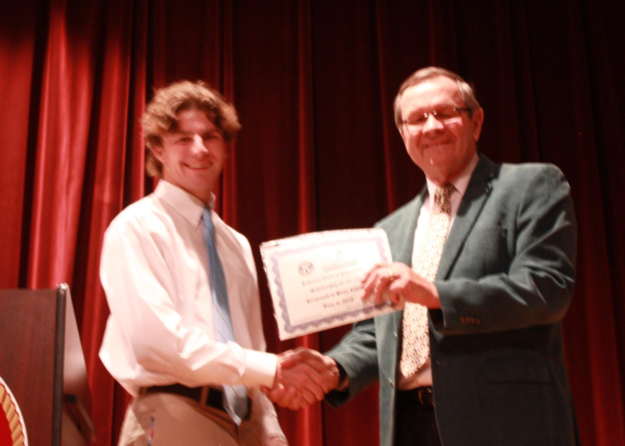 Sean Conners--Kiwanis Club of Poquoson Scholarship