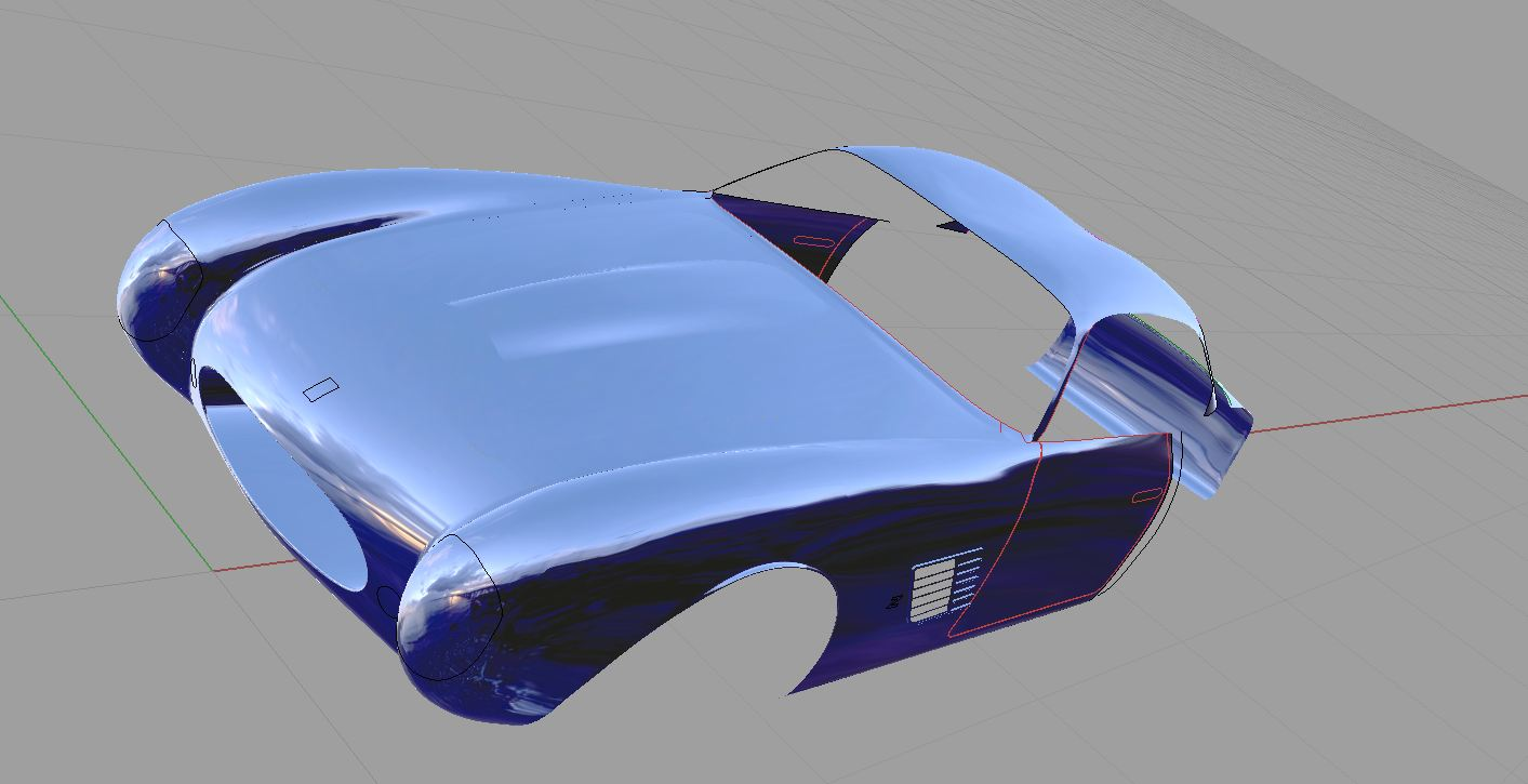 Car modeled