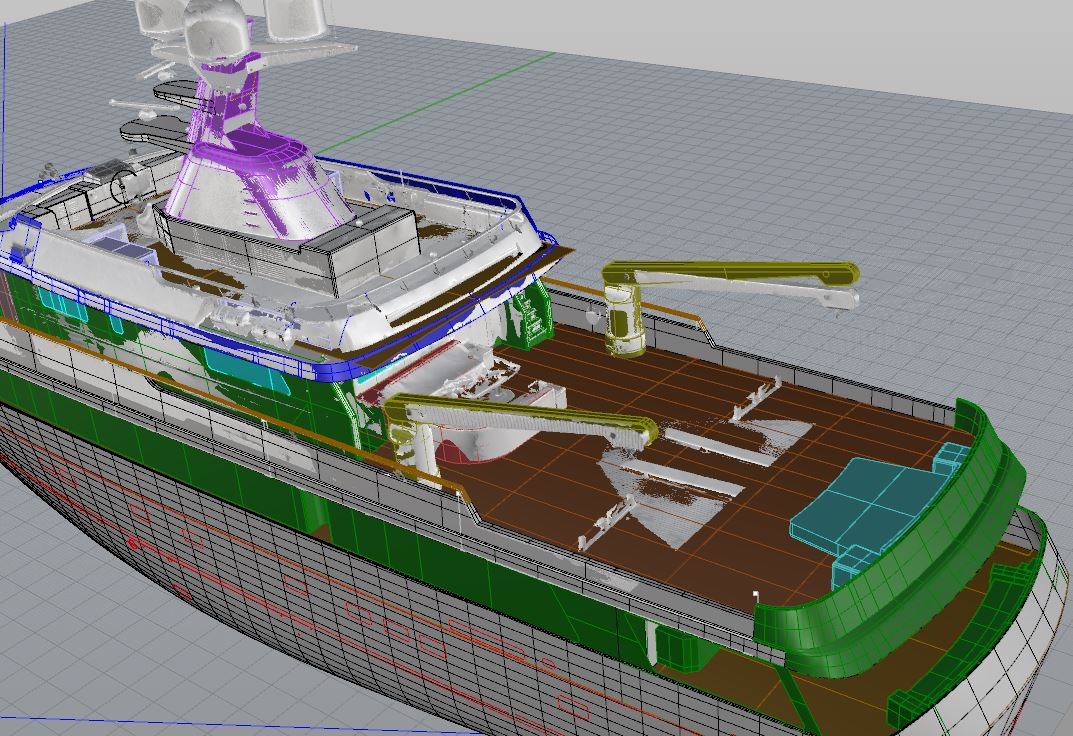 Yacht modeled
