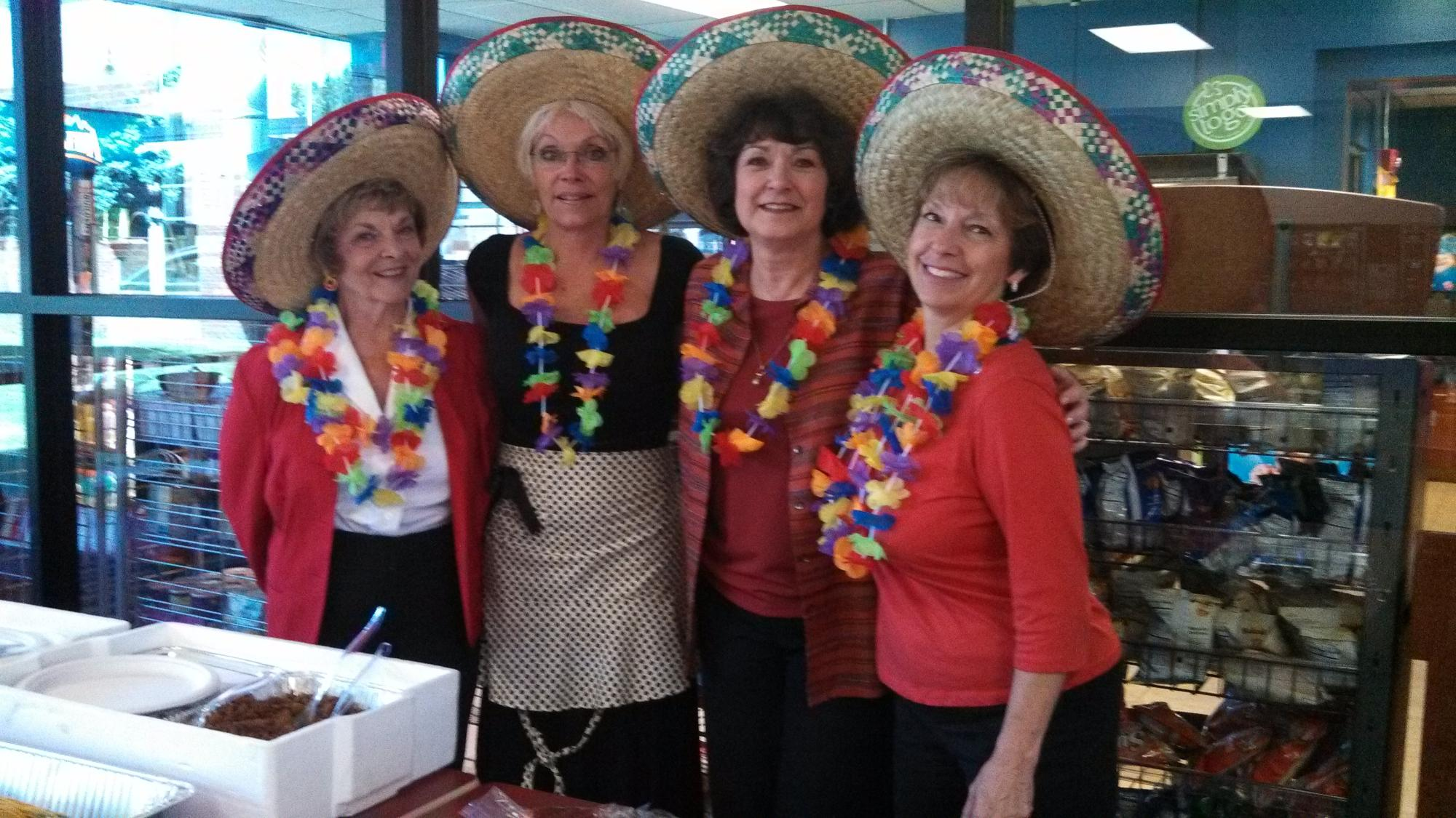 Lions Dian, Jill, Karen and Mary at our lunch fundraiser