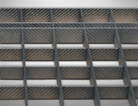 Egg Crate Grid Shelf Detail CFC