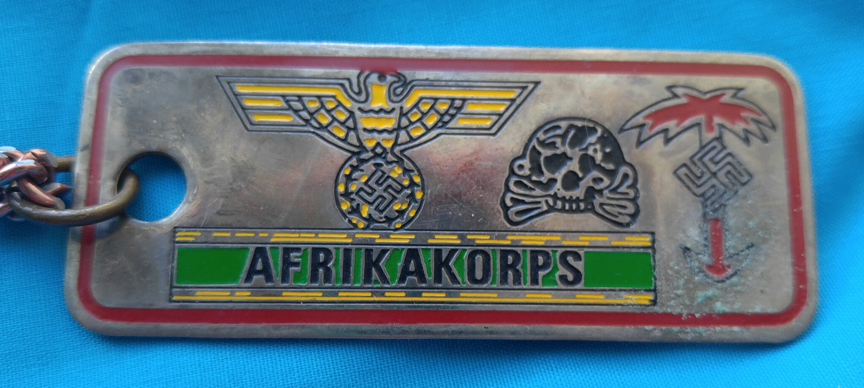 German Neck Tag Afrikakorps Eagle Skull