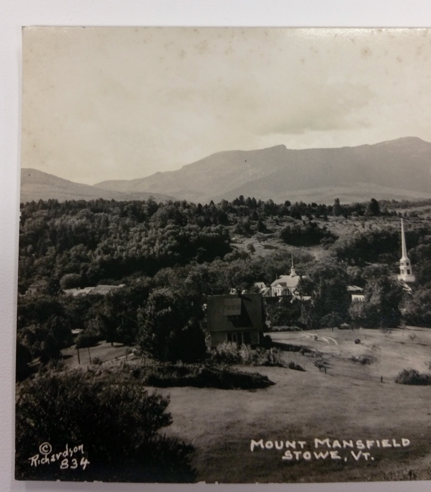 Richardson RPPC Post Card, Mount Mansfield, Stowe, Vermont with a Pasture #834 - $28.00 USD
