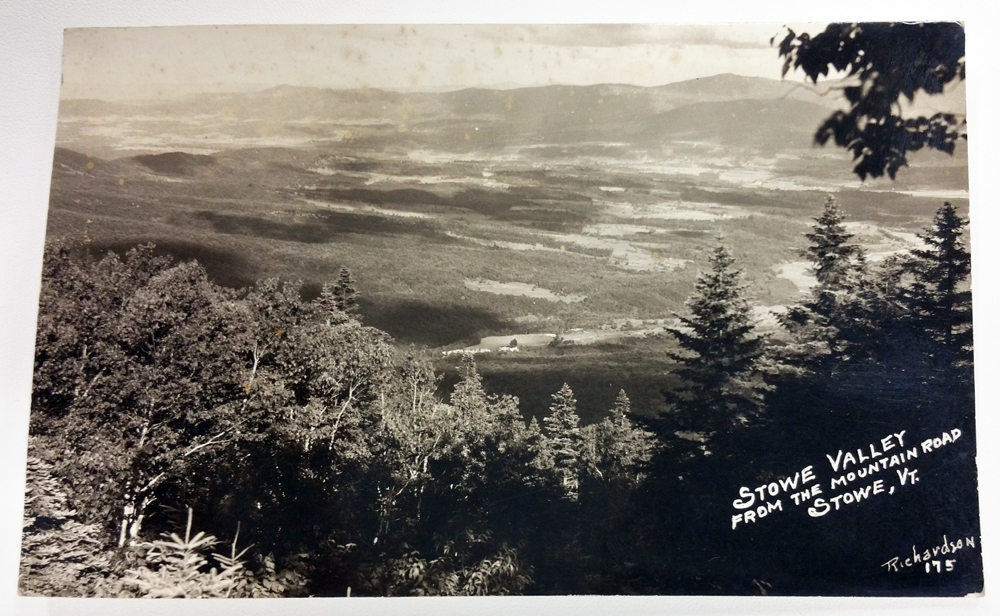 Richardson RPPC Post Card Stowe Valley from the Mountain Road, Stowe, Vermont #175 - $28.00 USD