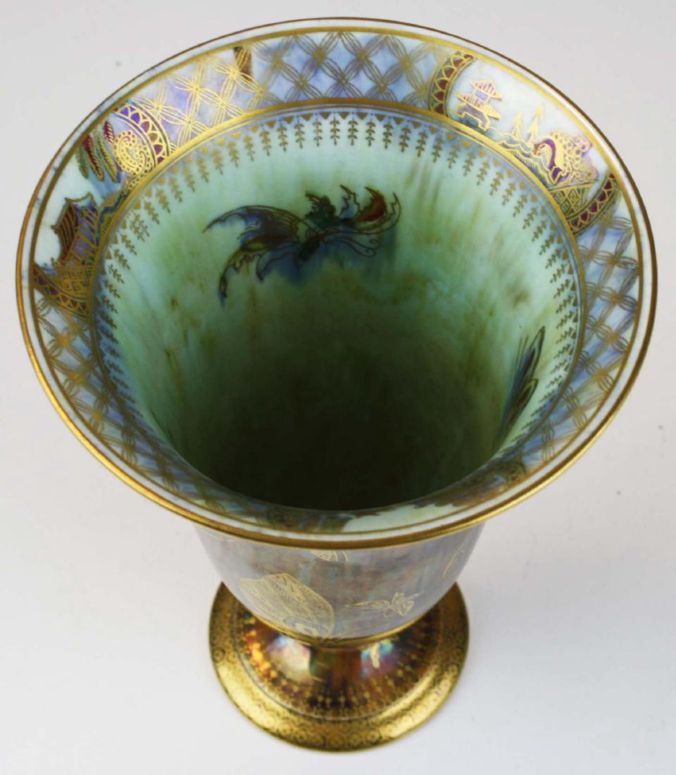 Wedgwood Fairyland Lustre Butterfly Trumpet Vase with Oriental Landscape Panels - $1,495.00 USD