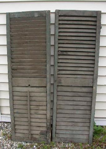 76 Early 19th Century Shutters - Original Hardware and Original Milk Paint Circa - 1820 to 1840 - $3,495.00 USD