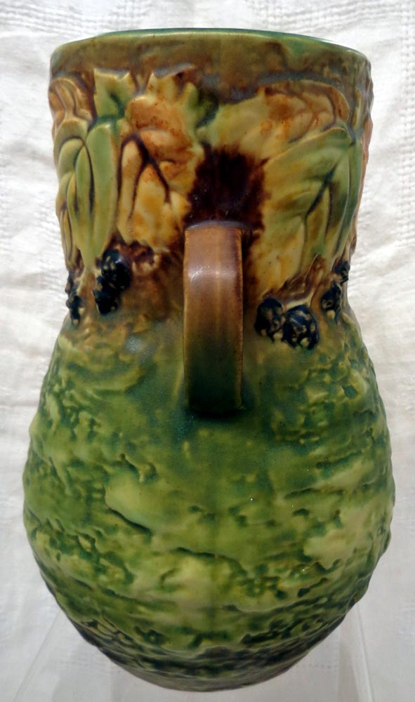 Roseville Beautiful, Early 20th Century Blackberry Dual Handled Vase #575-8 - $895.00 USD
