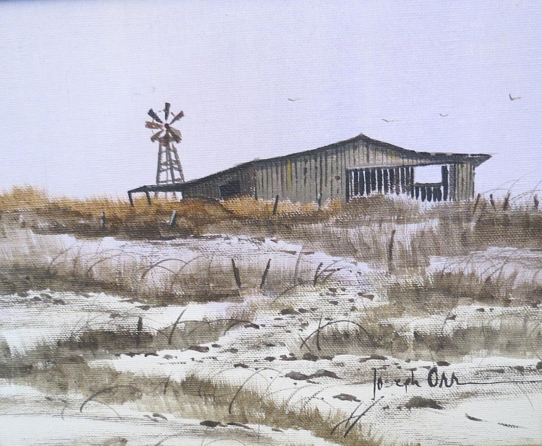 "Joseph Orr Painting Titled ""Abandoned Windmill"" - $685.00 USD"