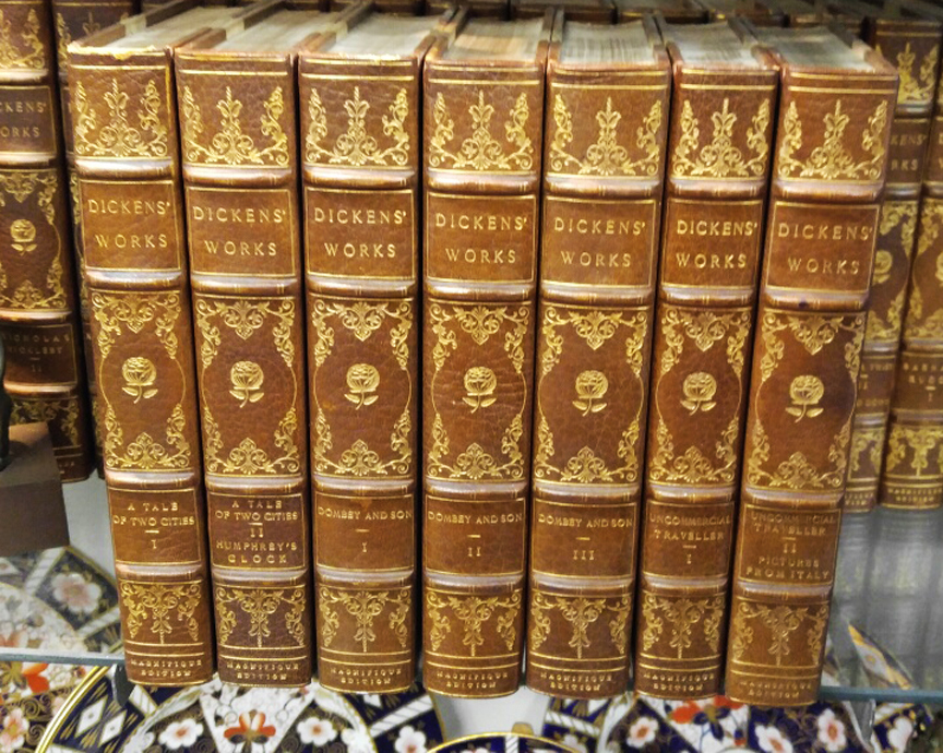 Charles Dickens Works 48 Volume Magnifique Dana Estes & Co., Boston, Limited 26 Lettered Editions - Letter K - Circa 1900 - $8,995.00 USD