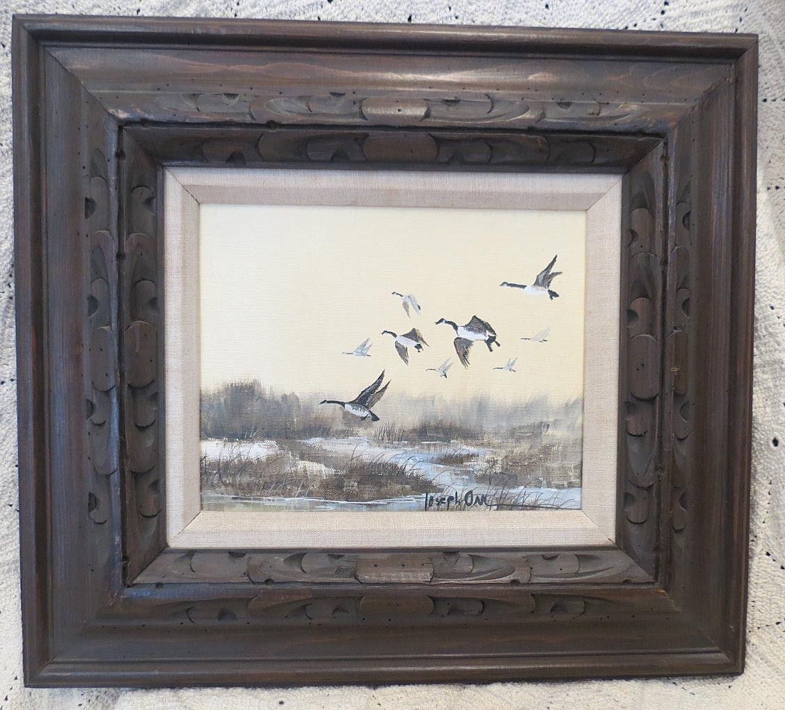 "Joseph Orr Painting Titled ""Flying Geese"" - $685.00 USD"