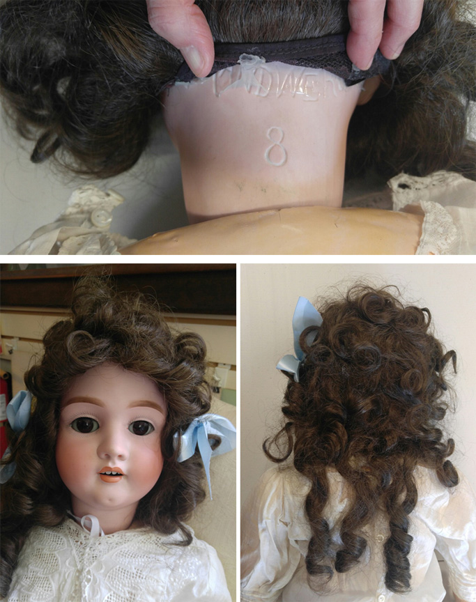 "Heinrich Handwerck German 38"" Child Bisque Head #8 Jointed Composition Doll Circa 1880 - $1,895.00 USD"