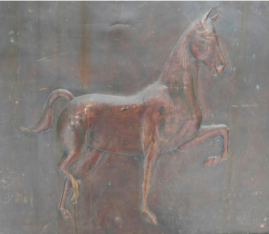 American Saddlebred, Nancy Highland, Copper Stable Horse Equestrian Sign - Circa 1915 - $3,495.00 USD