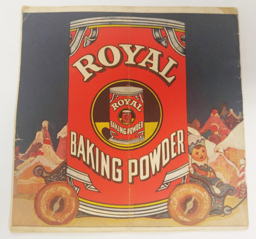 Vintage Royal Baking Powder Poster Sign with Little Gingerbread Man Book, Circa 1923 - $385.00 USD